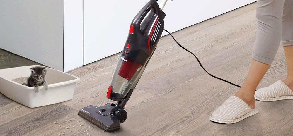 Dibea Corded Upright Stick & Handheld Vacuum Cleaner