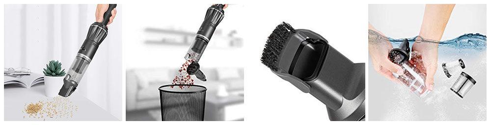 MOOSOO Handheld Vacuum 7kpa/12KPa Portable Hand Vacuum Cleaner Review