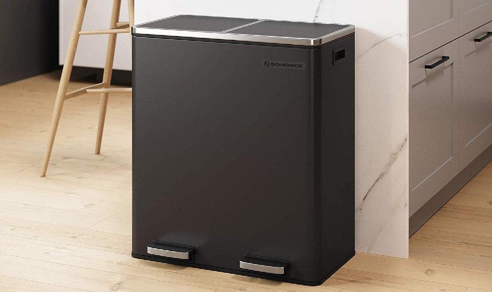 SONGMICS Dual Trash Garbage Can Review (16 Gal 60L)