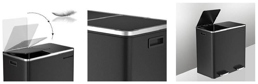 SONGMICS Garbage Can