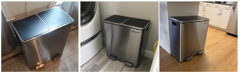 SONGMICS Dual Trash Garbage Can Review