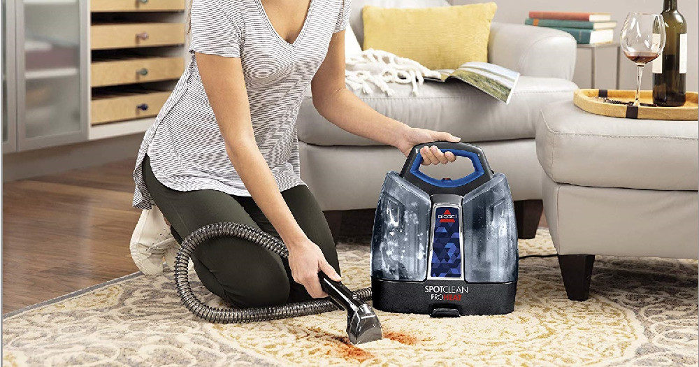 BISSELL SpotClean ProHeat Portable Spot And Stain Carpet Cleaner
