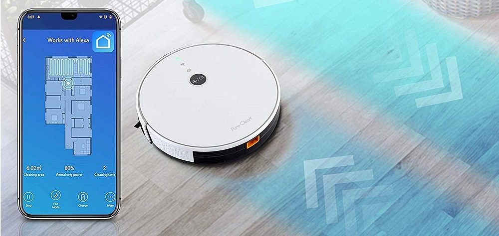 Pure Clean Alexa Smart Robot Vacuum Cleaner