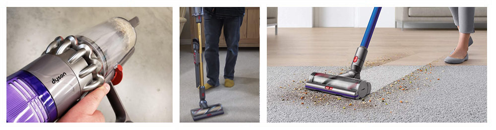 Vacuums with a Rotating Brush