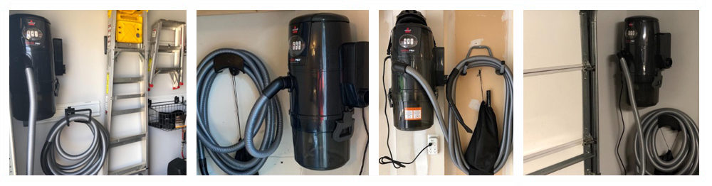 Central Vacuum with Retractable Hose