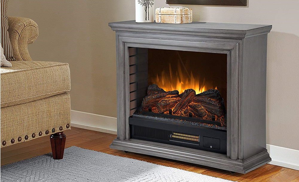 Pleasant Hearth Sheridan Mobile Infrared Fireplace