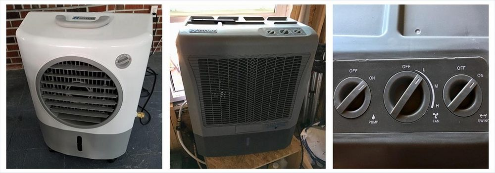 Hessaire Products MC18M Mobile Evaporative Cooler, 1,300 Cfm, Gray