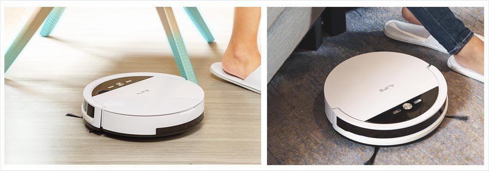 ILIFE V4 Vacuum, White Robot Cleaner