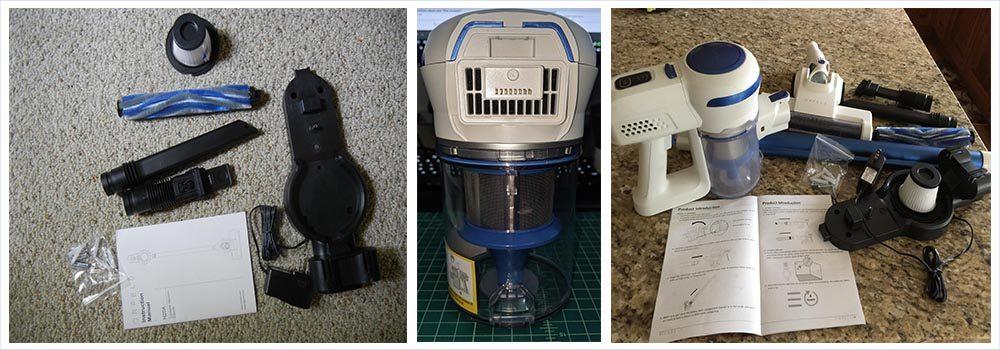 Cordless Vacuum Cleaner, 2 in 1 Stick Vacuum with Digital Motor
