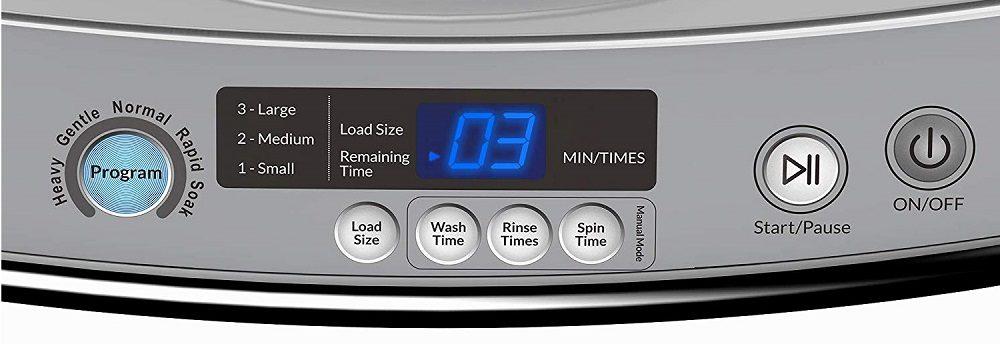 hOmeLabs 0.9 Cu. Ft. Portable Washing Machine - 6 Pound Capacity
