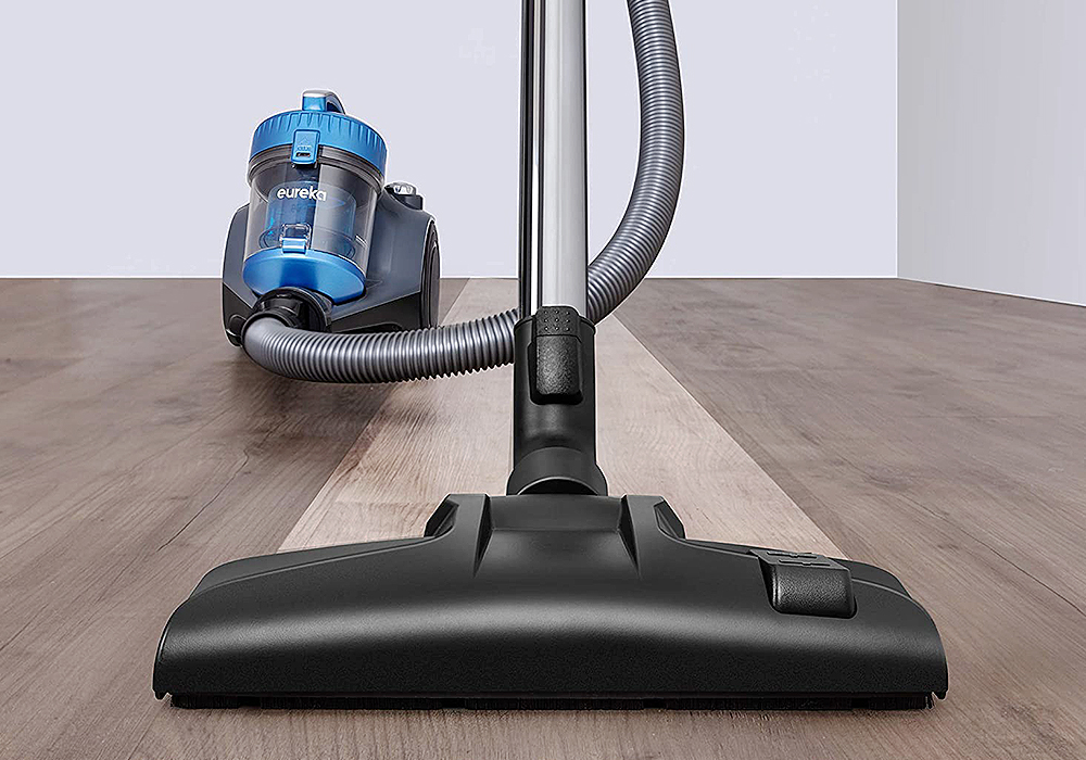 Eureka WhirlWind Bagless Canister Cleaner NEN110A Lightweight Corded Vacuum for Carpets and Hard Floors, Blue