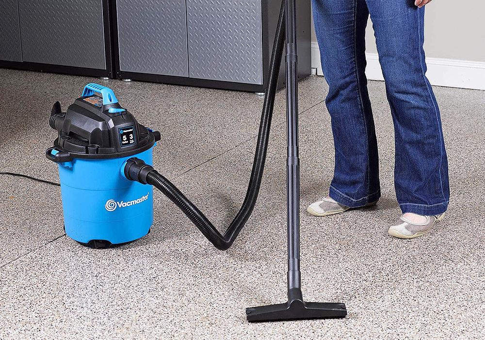 Vacmaster VJC507P 5-Gallon 3 Peak HP Wet-Dry Shop Vacuum, Blue, 5 gal